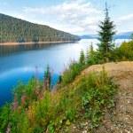 Alpine Lake Vidra summer view — Stock Photo