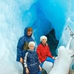Family near Nigardsbreen glacier (Norway) — Photo