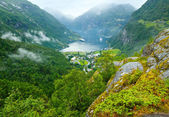 Geiranger Fjord (Norge) summer view — Stock Photo