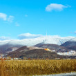 Winter country landscape and mountain (Ukraine). — Stock Photo #38951095