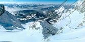 Winter Dachstein mountain massif panorama. — Stock Photo