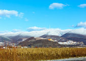 Winter country landscape and mountain (Ukraine). — Stock Photo