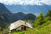 Summer mountain landscape (Alps, Switzerland) — Foto Stock
