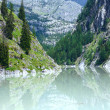 Summer mountain canyon and dam (Alps, Switzerland) — Stock Photo #39363839
