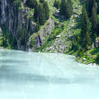Summer mountain canyon and dam (Alps, Switzerland) — Stock Photo #39363841