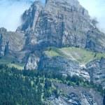 Mont Blanc mountain massif summer view. — Stock Photo