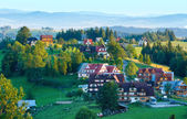 Summer morning mountain village view (Poland) — Foto Stock
