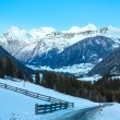 Winter mountain country landscape (Austria). — Stock Photo