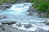Summer mountain river waterfalls (Norge) — Stock Photo