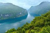 Geiranger Fjord (Norge) — Stock Photo