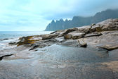 Summer Senja coast (Jagged Ersfjord, Norway, polar ) — Stock Photo