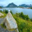 Summer village Reine (Lofoten, Norway). — Stock Photo