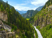 Summer mountain canyon (Alps, Switzerland) — Stock Photo
