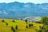 Summer mountain village view (Poland) — Stock Photo