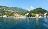 Town on Lake Como summer coast (Italy). — Stock Photo