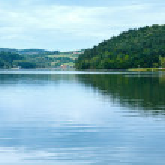 Lake Czorsztyn summer cloudy view (Poland) — Stock Photo #44612925