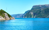 Fjord summer hazy view (Boknafjord, Norway) — Stock Photo
