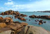 Ploumanach coast view (Brittany, France) — Stock Photo