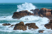 The Pink Granite Coast (Brittany, France). — Stock Photo