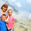 Family in summer mountain (Romania) — Stock Photo