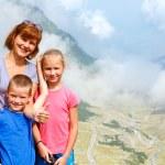 Family in summer mountain (Romania) — Stock Photo #46742217