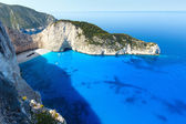Navagio beach (Zakynthos, Greece) — Stock Photo