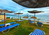 Sunrise beach (alykes, zakynthos, yunanistan) — Stok fotoğraf