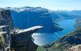 Trolltunga summer view (Norway). — Stock Photo
