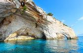 Las cuevas azules en zakynthos (grecia) — Foto de Stock
