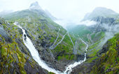 Summer waterfall on mountain slope (Norway). — Stock Photo