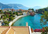 Summer view of Assos village (Greece,  Kefalonia). — Stock Photo