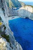 Navagio bay (Zakynthos, Greece) — Stock Photo