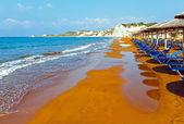 Xi Beach morning view (Greece, Kefalonia).  — Foto Stock