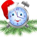 Holiday clock (vector) — Stock Vector #7198712