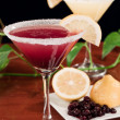 Stock Photo: Huckleberry lemon drop martini