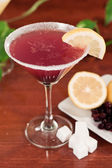 Huckleberry lemon drop martini — Stock Photo