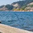 Hiigins point, Coeur d Alene lake - Stock Photo