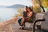 Lovers bench — Stock Photo