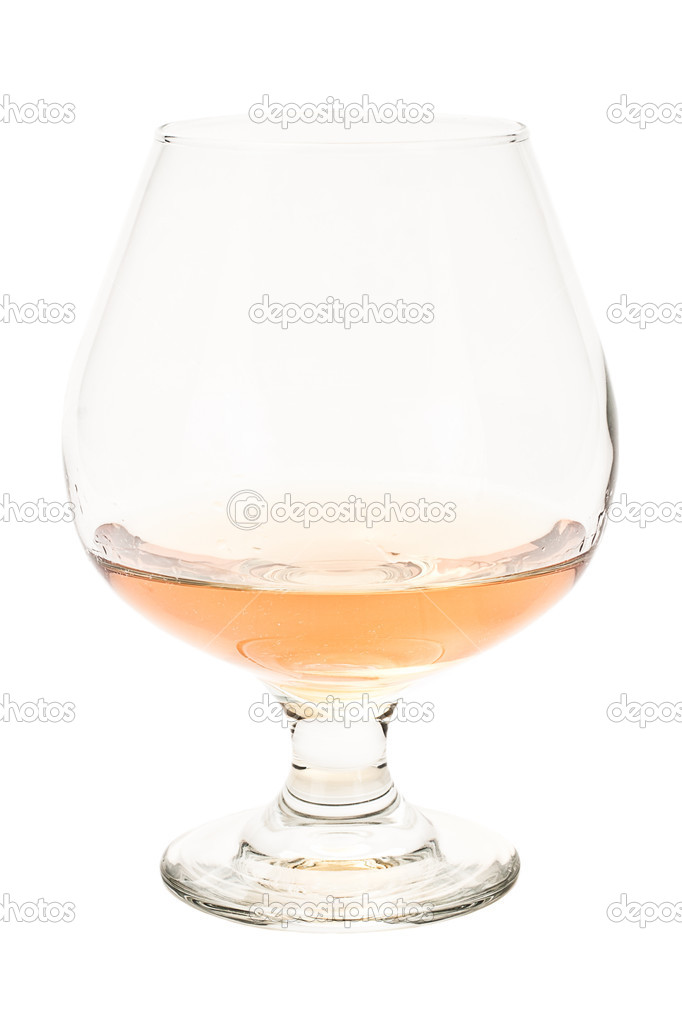 Brandy snifter isolated on a white background with cognac — Stock Photo #13718021