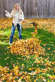Autumn chores — Stock Photo