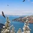 Coeur d Alene Idaho - Stock Photo