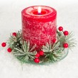 Holiday candle — Stockfoto
