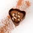 Dark chocolate with cocoa powder - Stock Photo