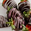 Chocolate covered strawberries - Stock Photo