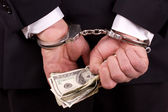 White collar corruption — Stock Photo
