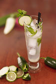 Cucumber jalapeno mojito — Stock Photo