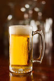 Cold beer in a mug — Stock Photo