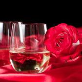 Stemless white wine glasses — Stock Photo