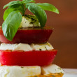 Fresh mozzarella and tomato salad — Stock Photo