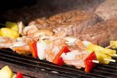 Bbq surf and turf — Stock Photo